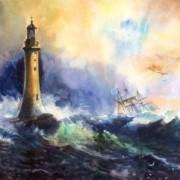 Eddystone Lighthouse - Vilhelm Melbye-el-2021